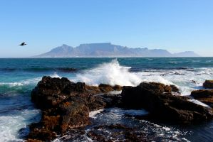 Table Mountain from Robben Island by FireStorm101