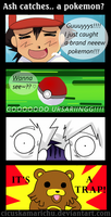 Ash catches.. a pokemon? by cicuskamarichu