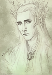 Thranduil sketch by TheSilverWyrm