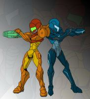metroid prime trilogy colored by 626key