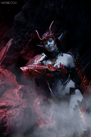Lineage II Dark Elf in Draconic armor by dani-foca