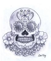 Sugar Skull Pencil by lowkey704