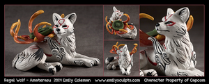 Regal Wolf - Amaterasu by emilySculpts