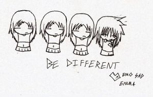 Dare To Be Different by animelover12281