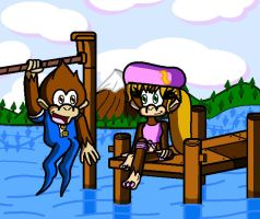 DKC3: LakeSide Limbo by conkeronine