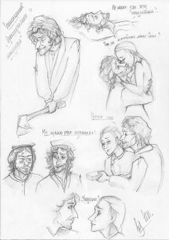 'Crime and Punishment' sketches by byannss