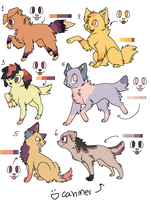 Color Pallet Canine Adopts by kitkatkttyAdopts5000