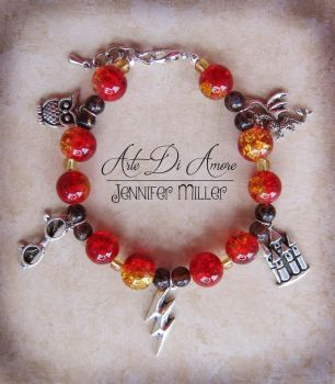 Harry Potter Beaded Charm Bracelet by ArteDiAmore