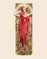 Marilyn Monroe - Art Nouveau by jdesigns79