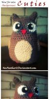 Now for SALE: Custom Amigurumi (Owl) by XenFeather