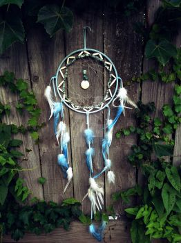 Blue Ombre Dream Catcher Cinderella Inspired by xsaraphanelia