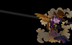 Steampunk Twilight Wallpaper by travischan03