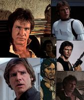 Collage of Han Solo by LadyIlona1984
