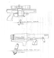Concept: Revolver and Launcher by SkipperLee