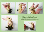 Seasonal Leafeons - Magnolia (for Spring!) by Bittythings