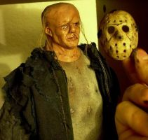 Remake Jason figure unmasked by DarkArtist81