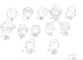 12 doctors chibi by Owlhatnest