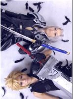 cloud and sephiroth by kaname-lovers