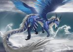 [COMMISSION] In Between the Clouds by Purpleground02
