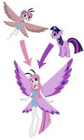 Princess Verbina and Twilight Sparkle fusion by BUdraw-81