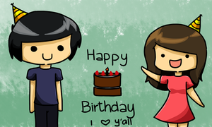 Happy Birthday Tyrone and Clarissa by RoflAndrea