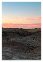 Morning Colors In The Badlands by Julian-Bunker
