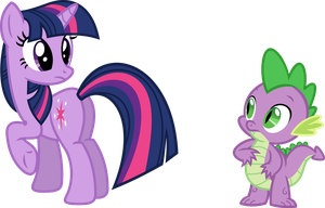 What are you looking at, Spike? by Porygon2z