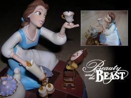 Disneyland Paris Belle Statue by LathronAniron