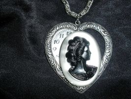 Silver Heart Cameo by ShinyLady