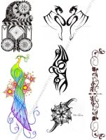 tattoo sheet by KirstySuzanne