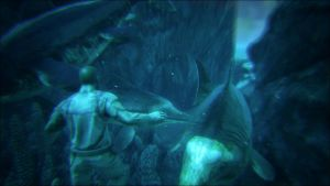 Swimming with the Ichthyosaurus by Shadowboy378