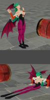 Morrigan in: Do a Barrel Roll! by DepthDropper