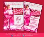 Nuvo haute pink Party flyer by DeityDesignz