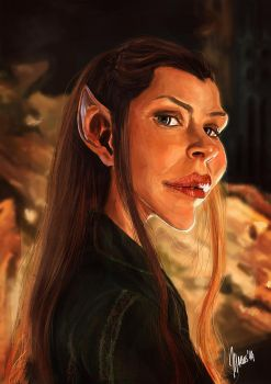 Evangeline Lilly caricature by jupa1128