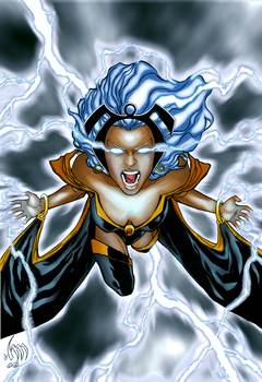 Storm coloring by RowanSL