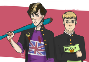 Sherlock Holmes the anime (?) by punkypeggy