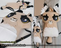 Caracal Custom Backpack by lemonbrat