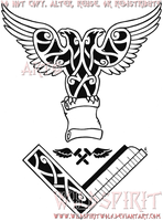 Masonic Eagle Knotwork Tattoo by WildSpiritWolf