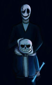 Sans and Gaster by Lidiviy