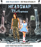 Headswapped Halloween by redbankmick