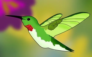 Ruby-Throated Hummingbird by AngieMyst