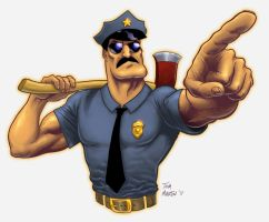 Axe Cop by TomMartinArt