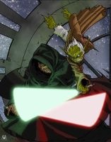 Yoda-Sidious, Death Star Duel by g45uk2