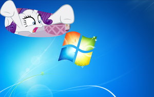 Rarity wallpaper - different dimension by nestordc