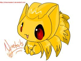 Ninetails in GIMP by Chaomaster1