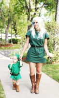 Link and his Mother 03 by HeatherCosplay