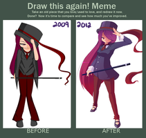 Draw This Again Meme: 3 years by Mishi-La