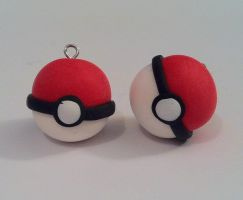 Pokeball charms by CemeteryDrive87