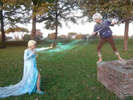 Elsa VS Jack Frost ~ Cosplay by LuXoN94