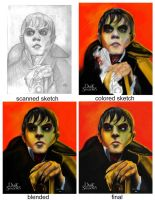 Barnabas Collins Portrait Progression by Asher629
